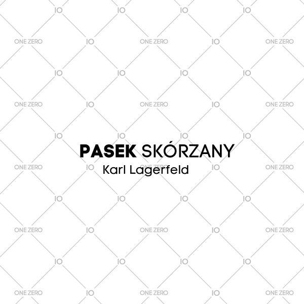 pasek skórzany Karl Lagerfeld • ONE ZERO • Modne zegarki i biżuteria • Autoryzowany sklep