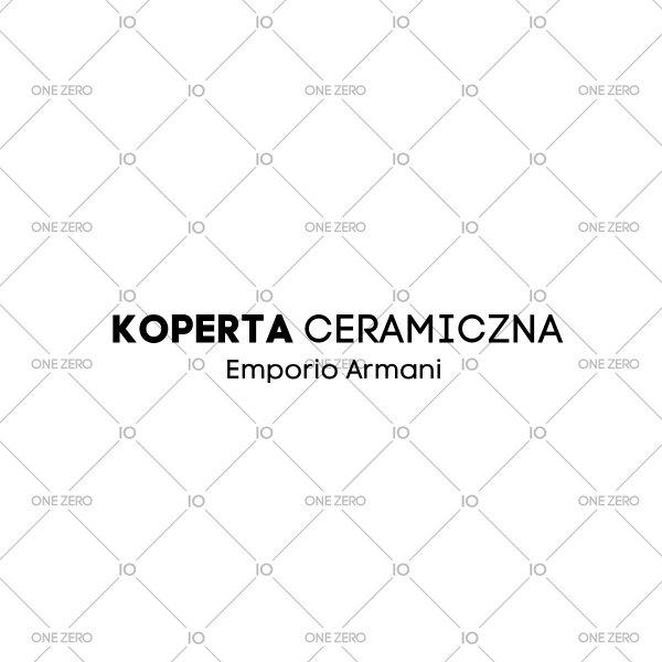 koperta ceramiczna Emporio Armani • ONE ZERO • Modne zegarki i biżuteria • Autoryzowany sklep