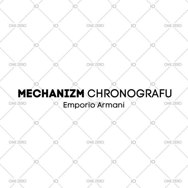 mechanizm chronografu Emporio Armani • ONE ZERO • Modne zegarki i biżuteria • Autoryzowany sklep