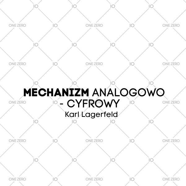 mechanizm analogowo - cyfrowy Karl Lagerfeld • ONE ZERO • Modne zegarki i biżuteria • Autoryzowany sklep