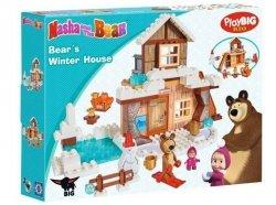 Klocki Masza i Niedźwiedź Zimowy Dom Niedźwiedzia 123 el. BIG 57100