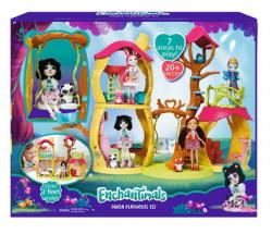 Leśny Domek Enchantimals Zestaw Prue Panda i Lalka Mattel FNM92