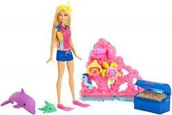Skarby Oceanu Delfiny z Magicznej Wyspy Zestaw Lalka Barbie Mattel FCJ29