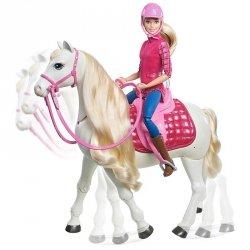 Interaktywny koń z lalką Barbie Mattel FRV36