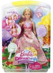 Lalka Barbie Księżniczki Kolorowe fryzury Mattel DWH41