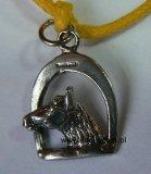 Bransoletka - głowa konia w strzemieniu - srebrna