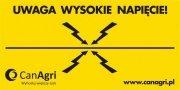 Tabliczka ostrzegawcza pastucha - CAN AGRI