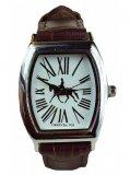 Zegarek na rękę ze skórzanym paskiem koń ujeżdżeniowy - GRAY'S