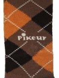 Podkolanówki dziecięce - Pikeur - jasny brąz/ciemny brąz/pomarańczowy