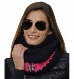 Komin STRIPE SPOOKS - navy/pink