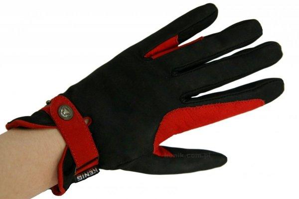 Rękawiczki ze skóry cielęcej z wykończeniem nubukowym - KENIG