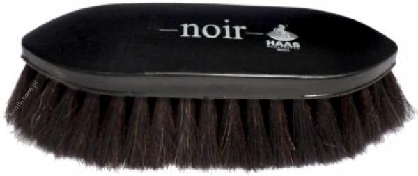Duża szczotka z naturalnego włosia Noir - HAAS