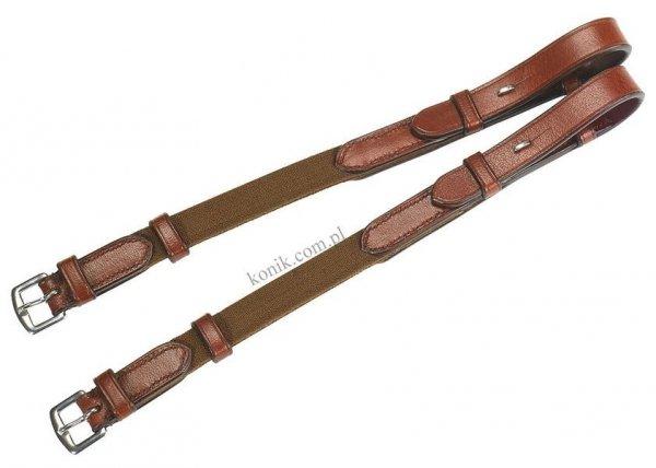 Paski policzkowe z elastycznymi wstawkami brąz - ERIC THOMAS