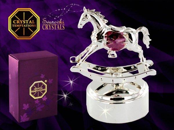 Pozytywka koń na biegunach Swarovski - Union Crystal