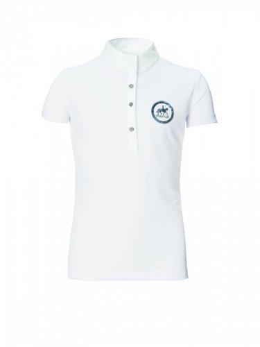 Koszulka konkursowa młodzieżowa PIKEUR - white