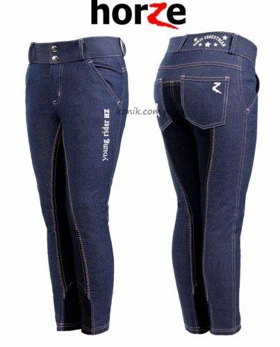 Bryczesy młodzieżowe DAMITA jeans - HORZE