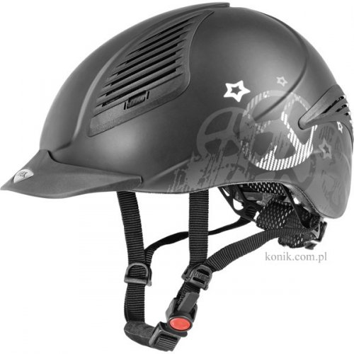 Kask UVEX Exxential PEACE - black mat/silver