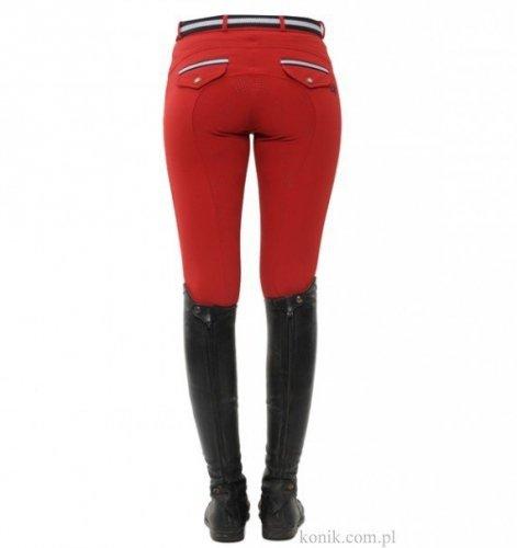 Bryczesy damskie RICARDA FLAP red z pełnym silikonowym lejem - SPOOKS