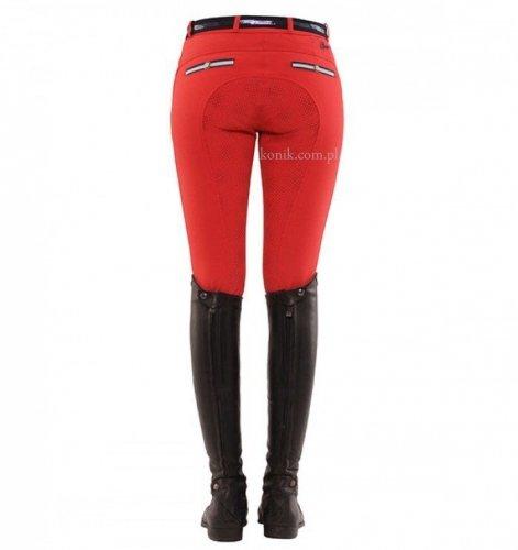 Bryczesy damskie RICARDA GRIP red z pełnym silikonowym lejem - SPOOKS