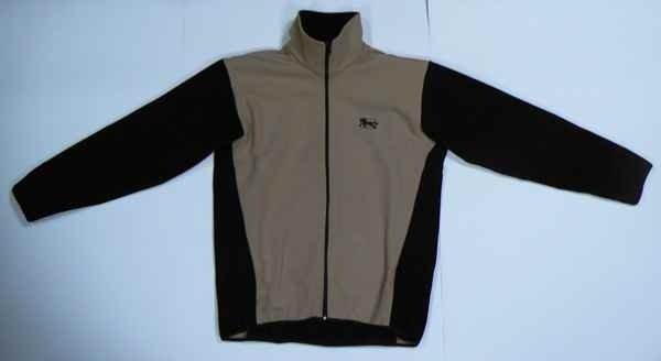 Bluza polarowa WINDSTOPER beżowo-czarny - Męski