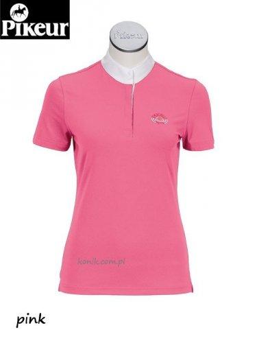 Koszula konkursowa elastyczna PIKEUR junior - różowy ciemny