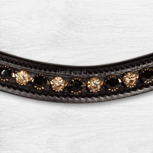 Ogłowie Verona Comfort duże kryształy - KIEFFER