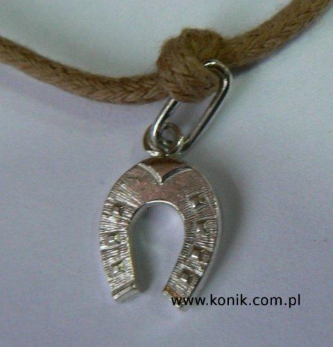 Bransoletka - podkowa - srebrna