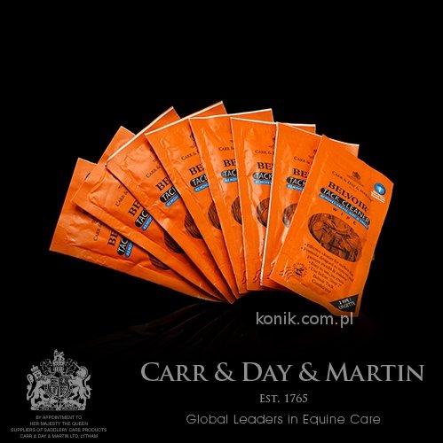 Chusteczka do czyszczenia wyrobów skórzanych BELVOIR TACK CLEANER Step1 - Carr & Day & Martin