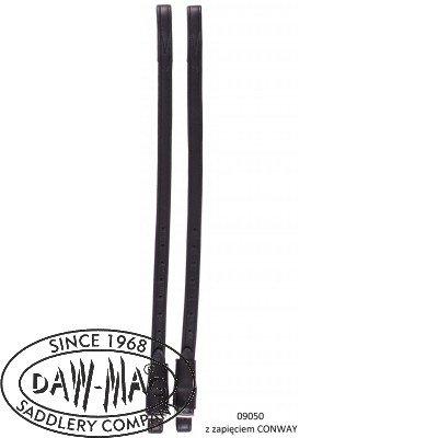Puśliska skórzane ujeżdzeniowe ze spinką CONWAY - DAW-MAG