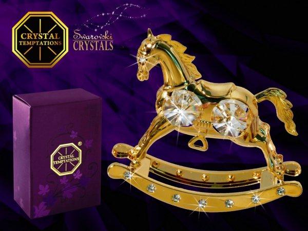 Figurka Koń na biegunach Swarovski - Union Crystal