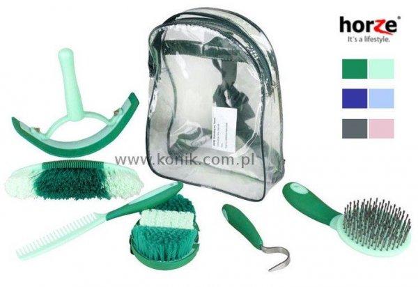 Plecak ze szczotkami do czyszczenia konia - Horze