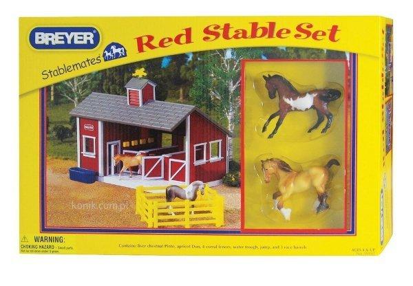 Zestaw czerwona stajnia + 2 konie - BREYER