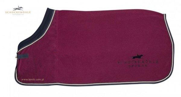 Derka polarowa FIRST CLASS PLUS z logo Schockemohle - burgund
