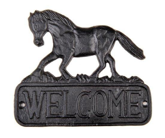 Tabliczka Welcome z żelaza - HKM