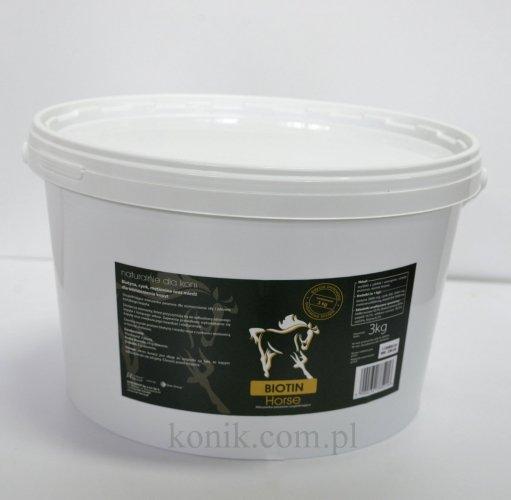 BIOTIN horse biotyna 3kg - OVER-HORSE (edycja limitowana)