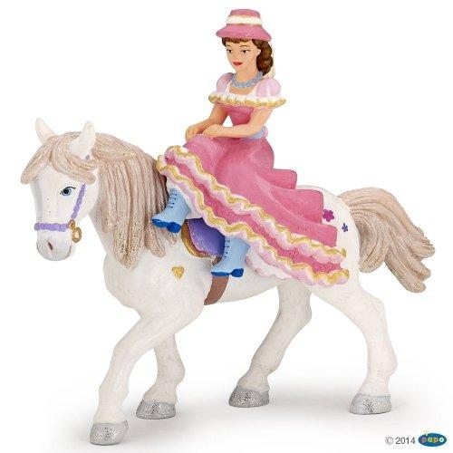 Figurka dama w kapeluszu na koniu - PAPO
