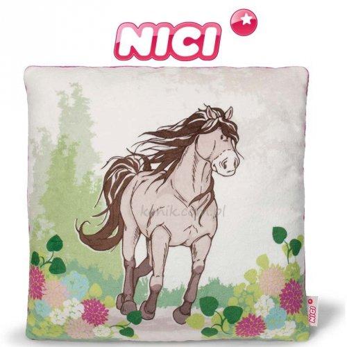 Pluszowa poduszka koń szaro-beżowy - NICI