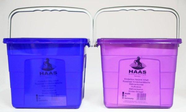 Dziecięcy zestaw szczotek w skrzynce - HAAS