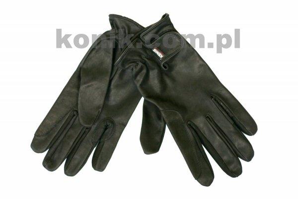 Rękawiczki KENIG skóra cielęca z wykończeniem nubukowym czarne