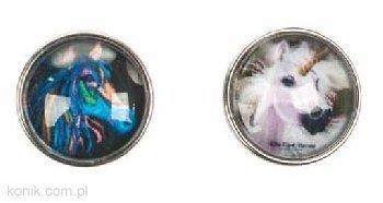 Bransoletka skórzana ROSE koń + 2 guziki do wymiany