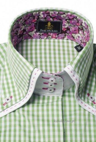 Koszula damska ELEONORA II pistachio check - FIOR DA LISO
