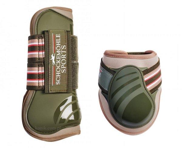 Ochraniacze Schockemohle JUMP GUARDS STYLE z kolekcji wiosna-lato 2016 - olive