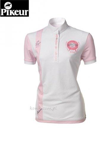 Koszula konkursowa PIKEUR dwukolorowa - white/pink