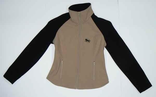Bluza polarowa WINDSTOPER beżowo-czarny - Damski