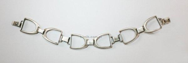 Srebrna bransoletka - strzemiona