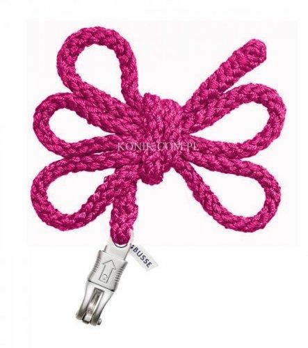 Uwiąz z bezpiecznym karabińczykiem CRYSTAL pink - BUSSE