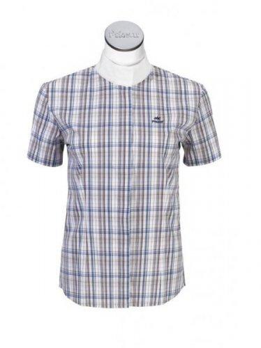 Koszula konkursowa młodzieżowa na krótki rękaw KI-Turn check - PIKEUR