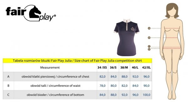 Koszula konkursowa JULIA szafirowa - FAIR PLAY