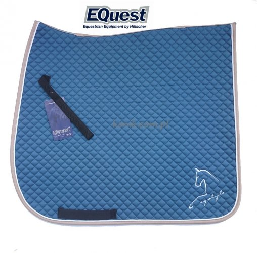 Potnik EQUEST Cotton Classic Plus EQ STYLE- niebieski