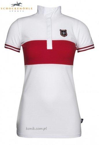 Koszulka konkursowa Schockemohle ALINA - WHITE/CHILI